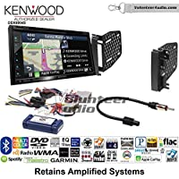 Volunteer Audio Kenwood Excelon DNX694S Double Din Radio Install Kit with GPS Navigation System Android Auto Apple CarPlay Fits 2009-2010 Ram 2011-2014 Chrysler 200