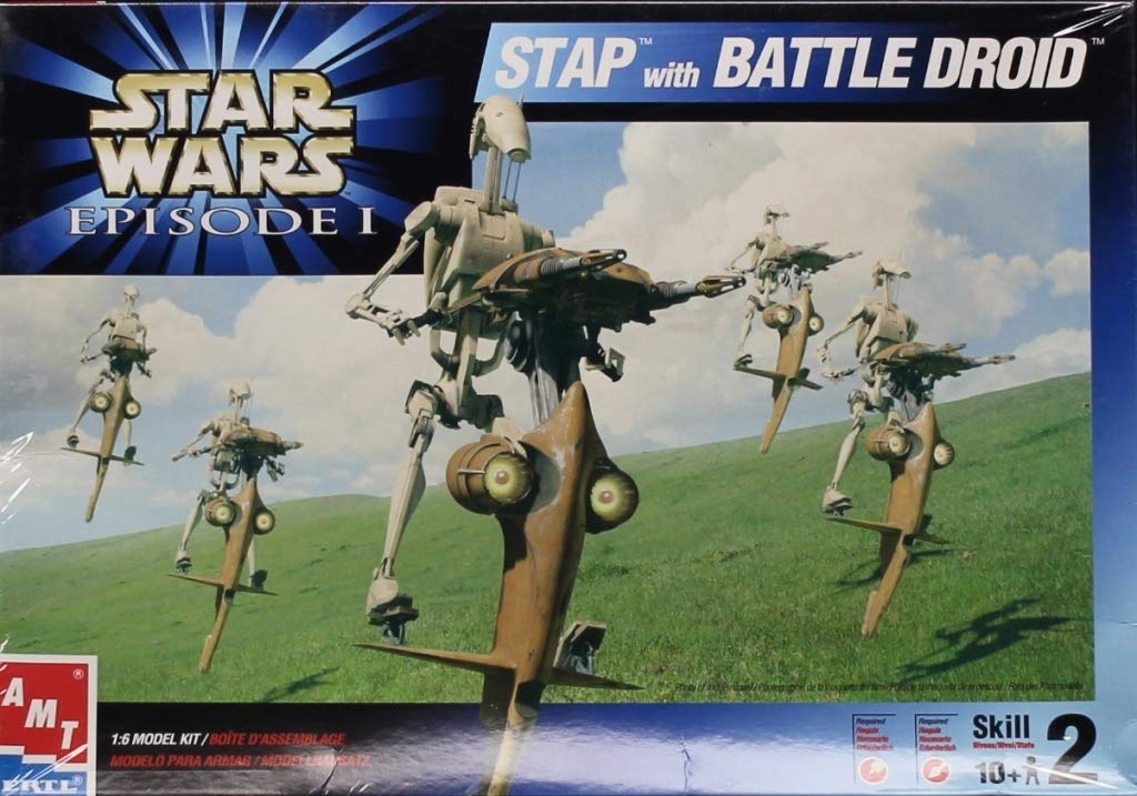 AMT ERTL 1 : 6 Star Wars Episode I Stap with Battle Droidプラスチックモデルキット# 30124 B01N6LMQNP