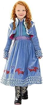 CIRAD Vestido Frozen Niñas Disfraz Anna Elsa (120 (5-6 años ...