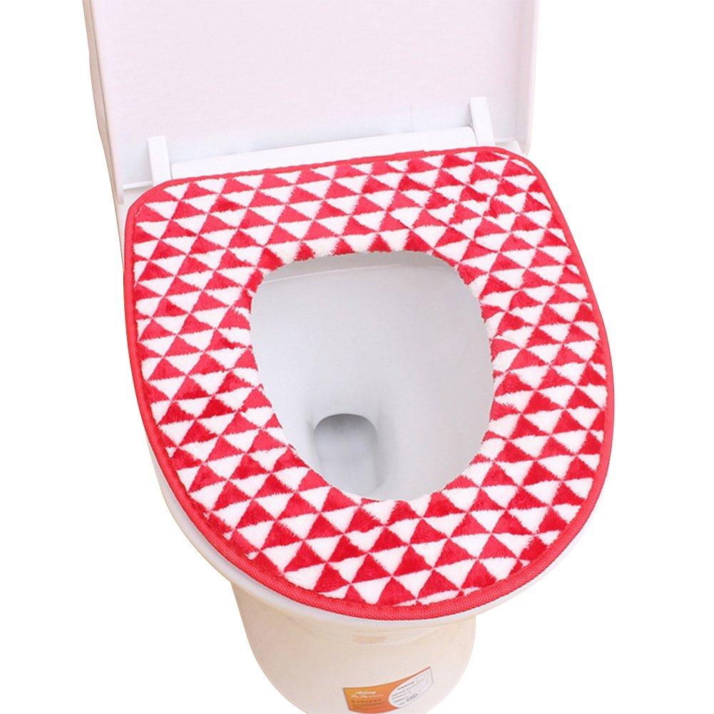milopon Fundas de asiento de inodoro WC Pads waermer Ba/ños de lavado Bar calentador Asiento Inodoro Asiento Asiento Cover Matte