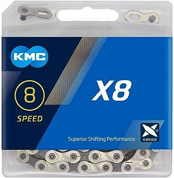 KMC X8-93 Cadena Estrecha, Unisex, Gris, 114 eslabones: Amazon.es ...