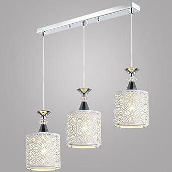 Hängeleuchte Leuchte Modern Design Pendelleuchte 3 Flammig E27 Metal  Pendelleuchten Kronleuchter Esstisch Weiß Leuchte Max 40W