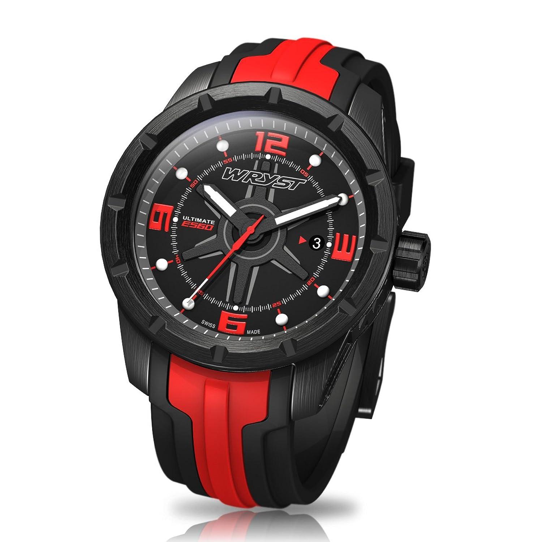 Schwarz und Rot Swiss Sport Armbanduhr wryst Ultimate ES60 FÜr extreme sports
