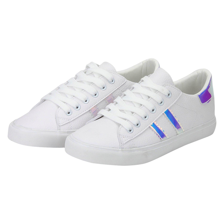 Red Tape Women's White Sneakers-6 UK