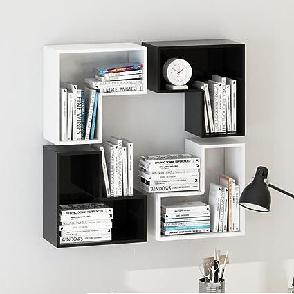 Creativity Wall Combination Bookshelf Equilateral L Shaped Love Shelf Decoration Size