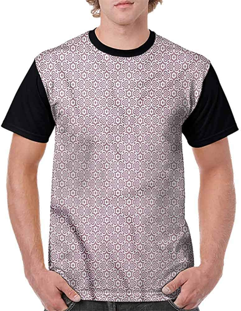 BlountDecor Casual Short Sleeve Graphic Tee Shirts,Oriental Hexagons Fashion Personality Customization