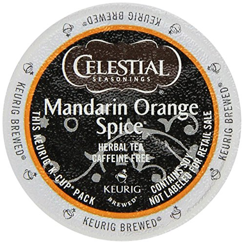 Celestial Seasonings Mandarin Orange Spice Herbal Tea K-Cup 48 K-Cups for Keurig Brewers