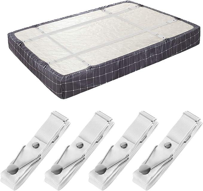 4PCS//Set BED SHEET MATTRESS HOLDER FASTENER GRIPPERS CLIPS SUSPENDER STRAPS