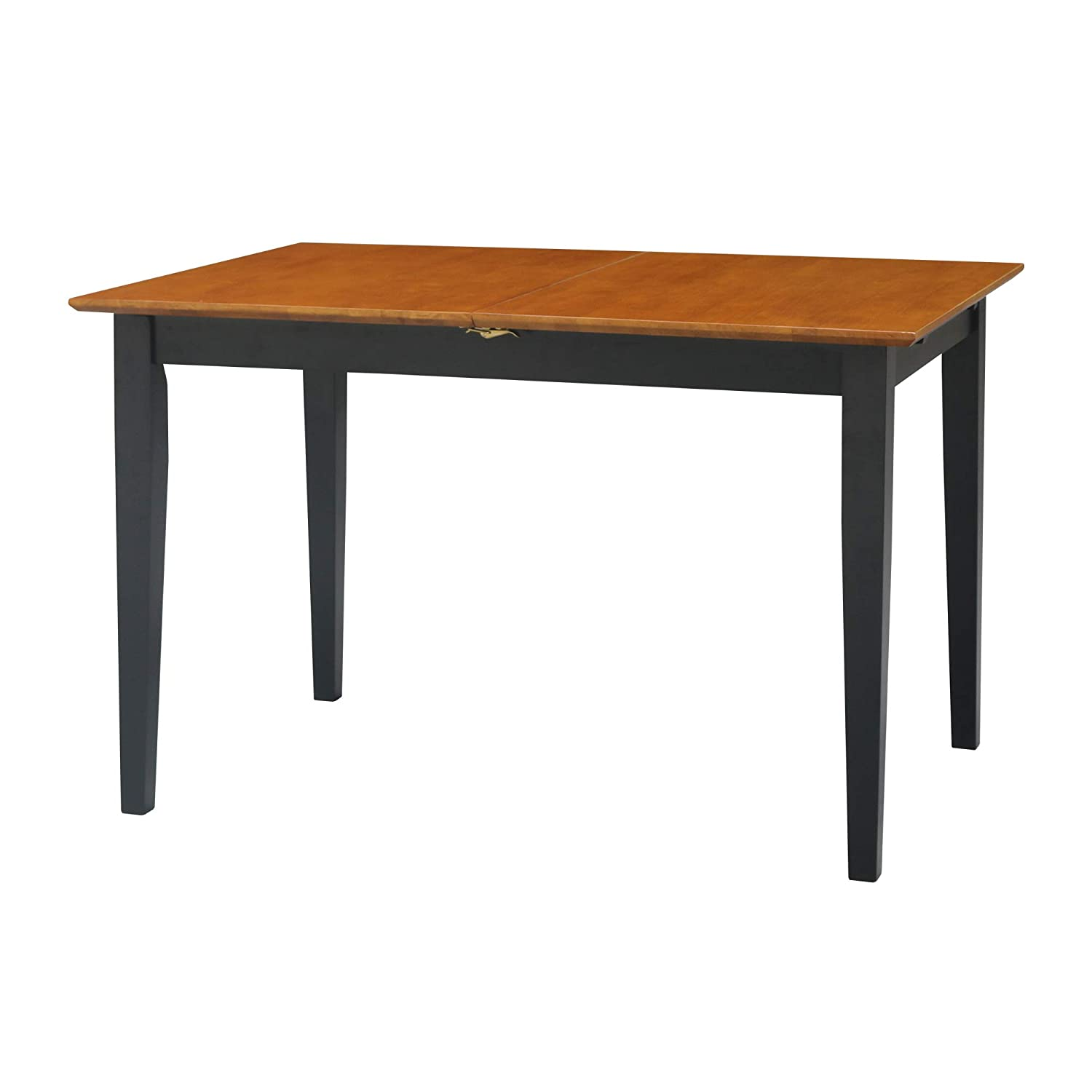 International Concepts Dining Table, Butterfly Extension with Shaker Style Leg, Black Cherry