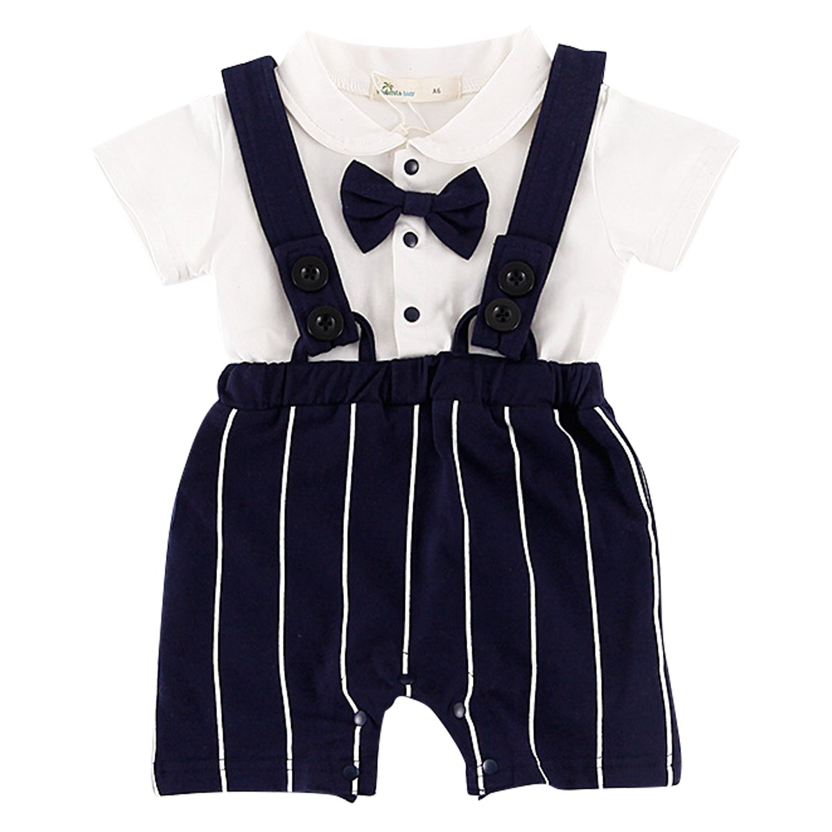 Bebone Baby Boys Outfits Clothes Wedding Gentleman Romper Jumpsuit Bodysuit