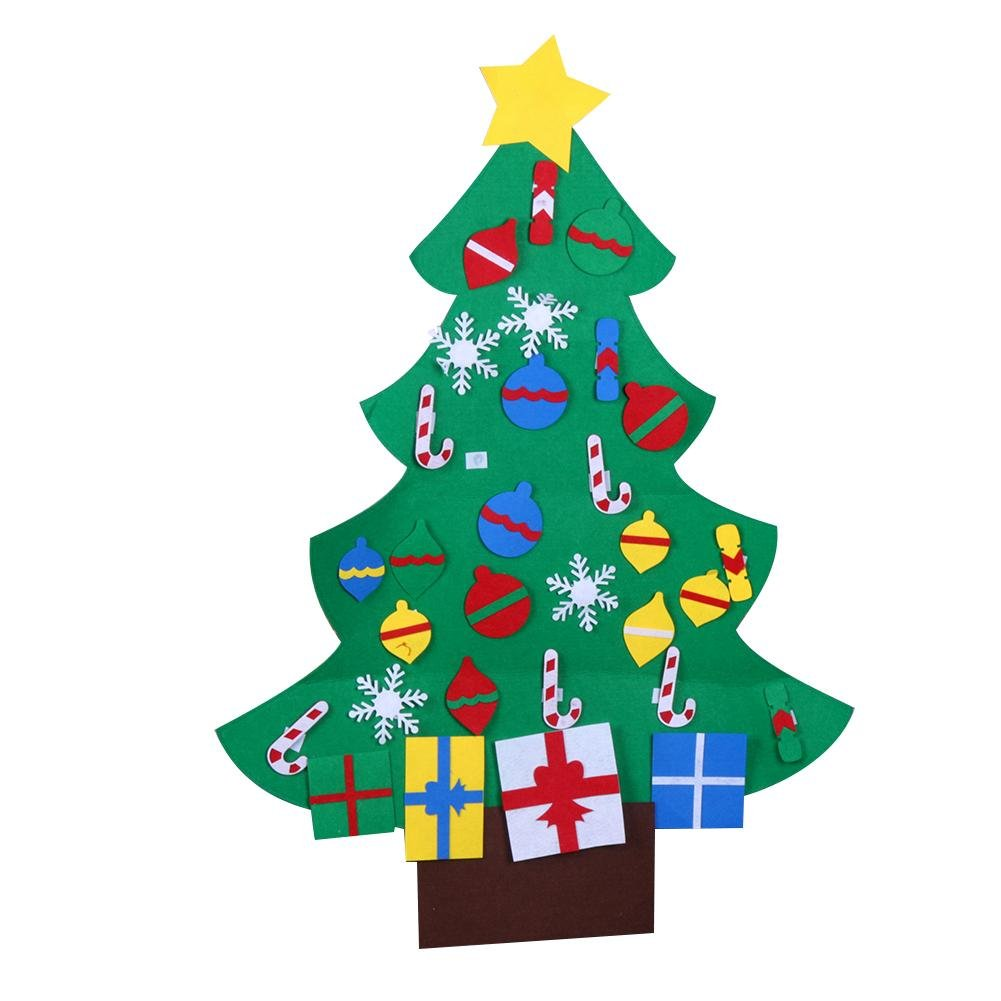Whitelotous DIY Stereo Felt Christmas Tree with Decorations Door Wall Hanging Children Gifts (3)