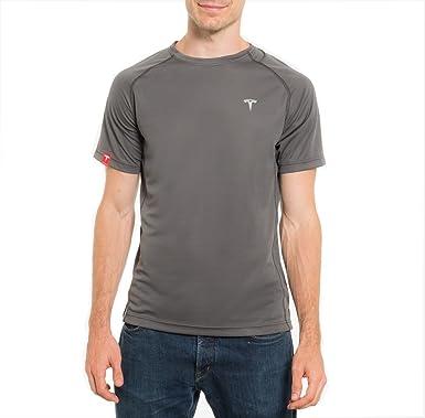 0bffbf6b Amazon.com: Tesla Motors Men's Performance T-Shirt (S, Grey): Clothing