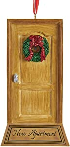 "Kurt Adler ""New Apartment Door Ornament for Personalization"