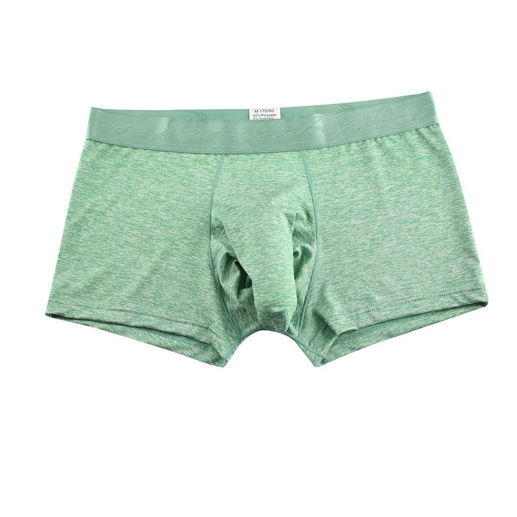 Fxbar,Men's Sexy Elephant Underwear Boxers Briefs Stretch Sheath Underwear Underpants Sleepwear(Green,XL)