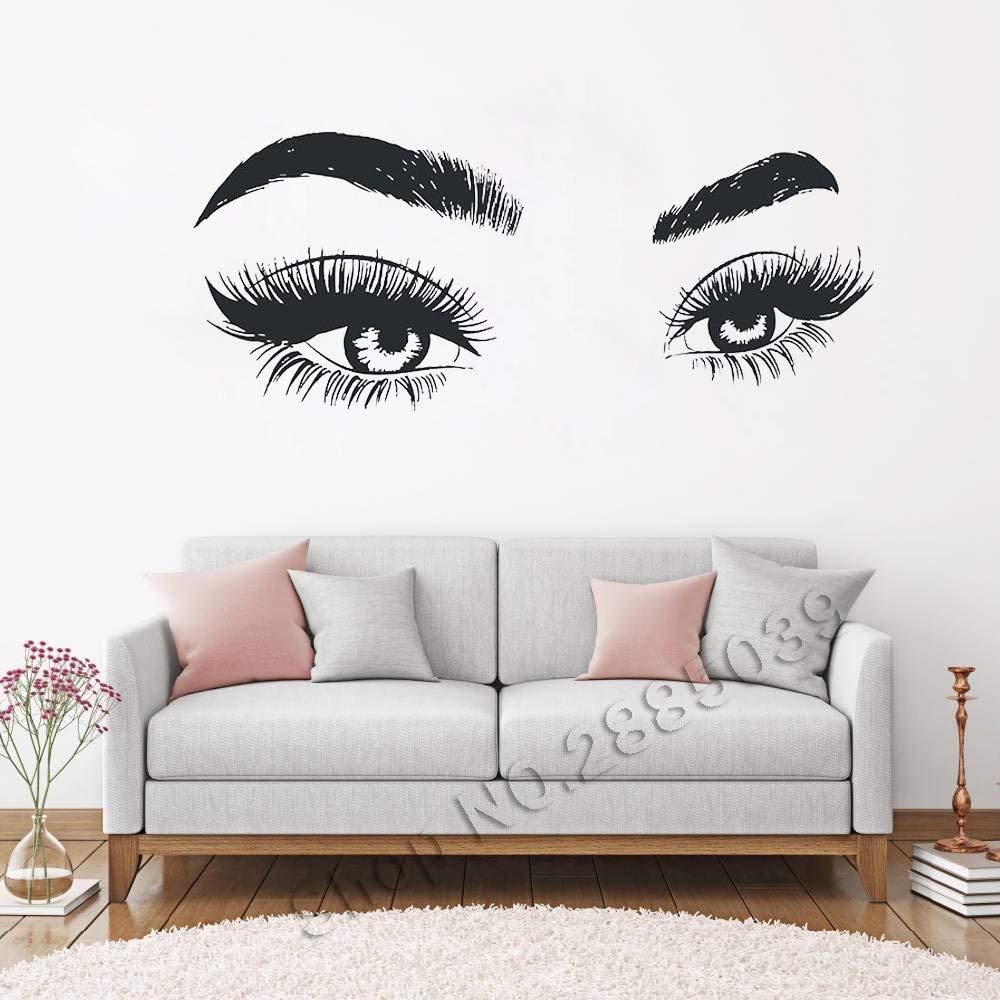 Etiqueta engomada creativa de la pared de las pestañas de los ojos ...