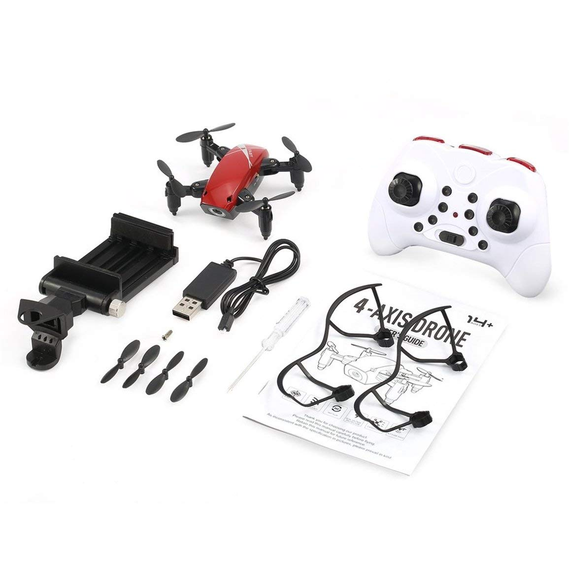 Fantasyworld S9W WiFi FPV 0.3MP Kamera Mini Faltbare Drone Atitude Hold Mode One-Taste Return 360 Grad Flip RC Quadcopter RTF