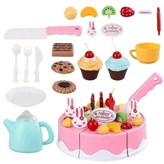 Toyvian Pastel de cumpleaños Corte de Juguete Juguete de ...