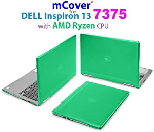 """mCover Hard Shell Case for 13.3"""" Dell Inspiron 13 7375 (with AMD Ryzen CPU) 2-in-1 Convertible Laptop Computers (Dell I13-7375-AMD Green)"""