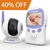 Adjustable Optical Lens Baby Monitor, Long Range, 1800mAh Rechargeable Batteries, Infrared Night Vision, Two Way Radio, Pan-Tilt-Zoom, Smart Alert by Coobar