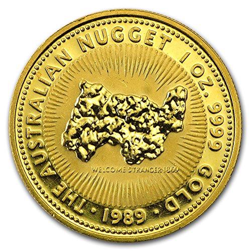 - 1986 AU - Present 1 oz Gold Australian Kangaroo/Nugget (Abrasions) 1 OZ Very Good