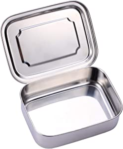 Sumerflos All Stainless Steel Bento Box, 1200ML/40OZ Lunch Food Containers, Perfect for Adults and Kids School, Office, On-the-Go Meal and Snack, Eco-Friendly, Dishwasher Safe (1 Compartment)