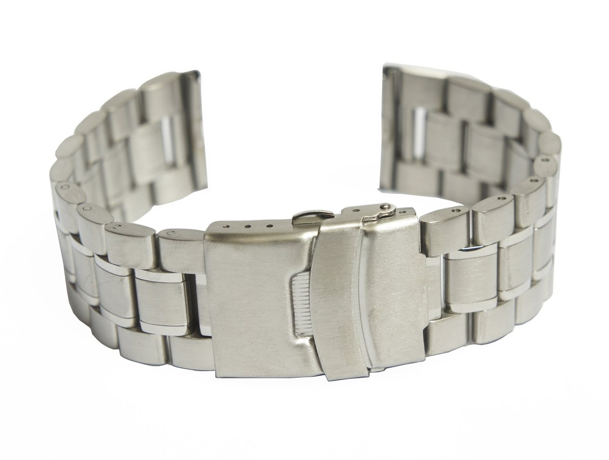 @ccessory 24mm Stainless Steel Metal Watch Band Strap + Tool + 2 Pins For Sony SmartWatch 2 SW2 (Silver)