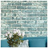 16054 Brick Panel Wallpaper,Vintage Faux Brick Panel for Bedroom Living Room Wall Decorative Wallpaper 20.8in×32.8ft