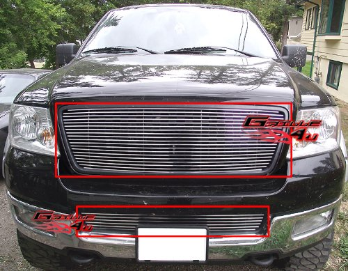 (APS Fits 04-05 Ford F-150 Honeycomb Style Billet Grille Combo Insert #F67996A)