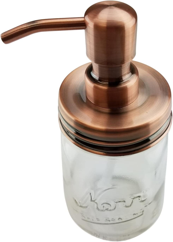 Nighthawk Black Mason Jar Soap Dispenser LidRust Proof Made Of Stainless S...