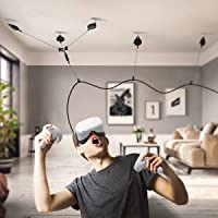[Pro Version] KIWI design VR Cable Management for Oculus Quest 2 Link Cable, 6 Packs VR Pulley System for Oculus Quest…