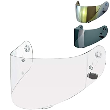 Viviance Visiera per Casco Moto Lens Shield per Hjc Cl-16 Cl-17 Cs-15 CS-R1 CS-R2 Cs-15 Fg-15 TR-1 Oro