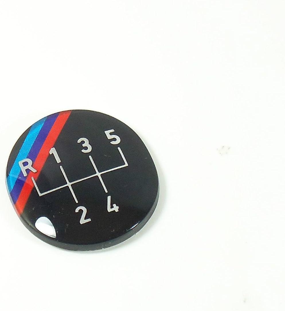 NEW GENUINE OEM BMW E24 E28 M 5-Speed Shift Gear Knob Badge Emblem 25111221616