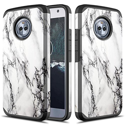 Moto X4 Case, TownShop Hard Impact Dual Layer Shockproof Bumper Case for Motorola Moto X4 / Moto X (4th Generation) - Marble