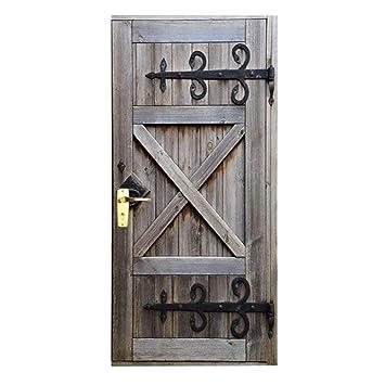 Baffect Adesivi Per Porte In 3d Porta In Legno Fai Da Te Carta Da
