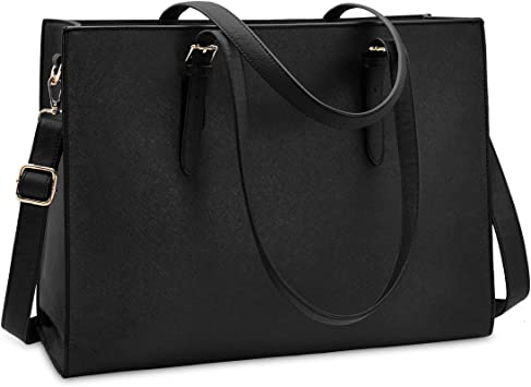 Ladies Buckle Business Tote in Black