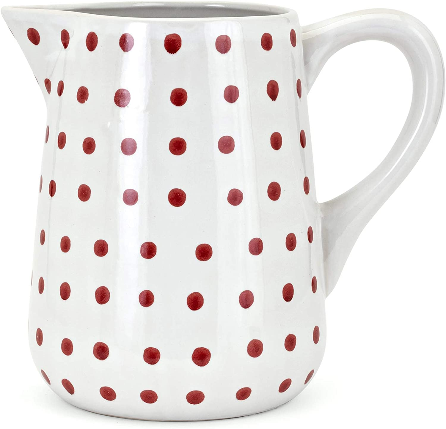 Trisha Yearwood Home Collection Berry Patch Hand-Painted Pitcher White