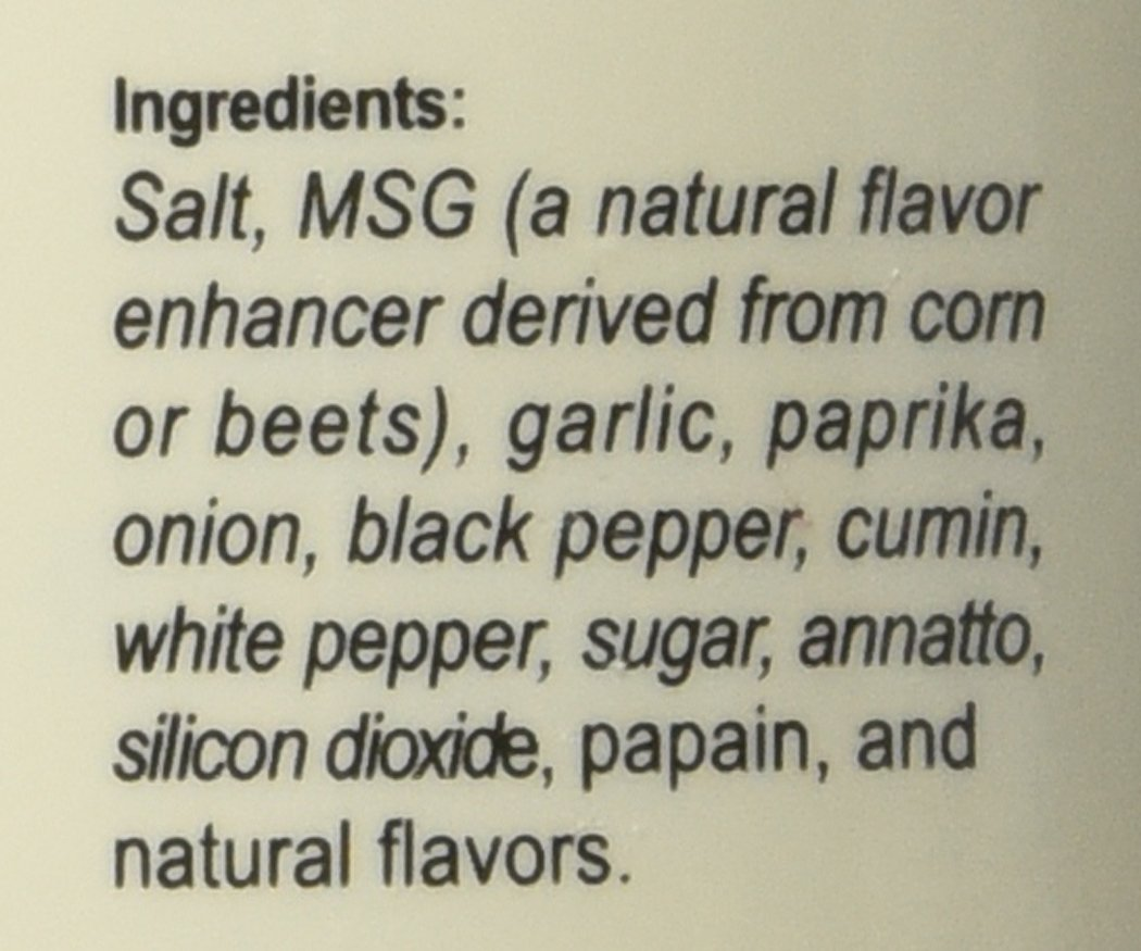 Chef Merito condimento 14 oz contenedor (Paquete de 3 ...
