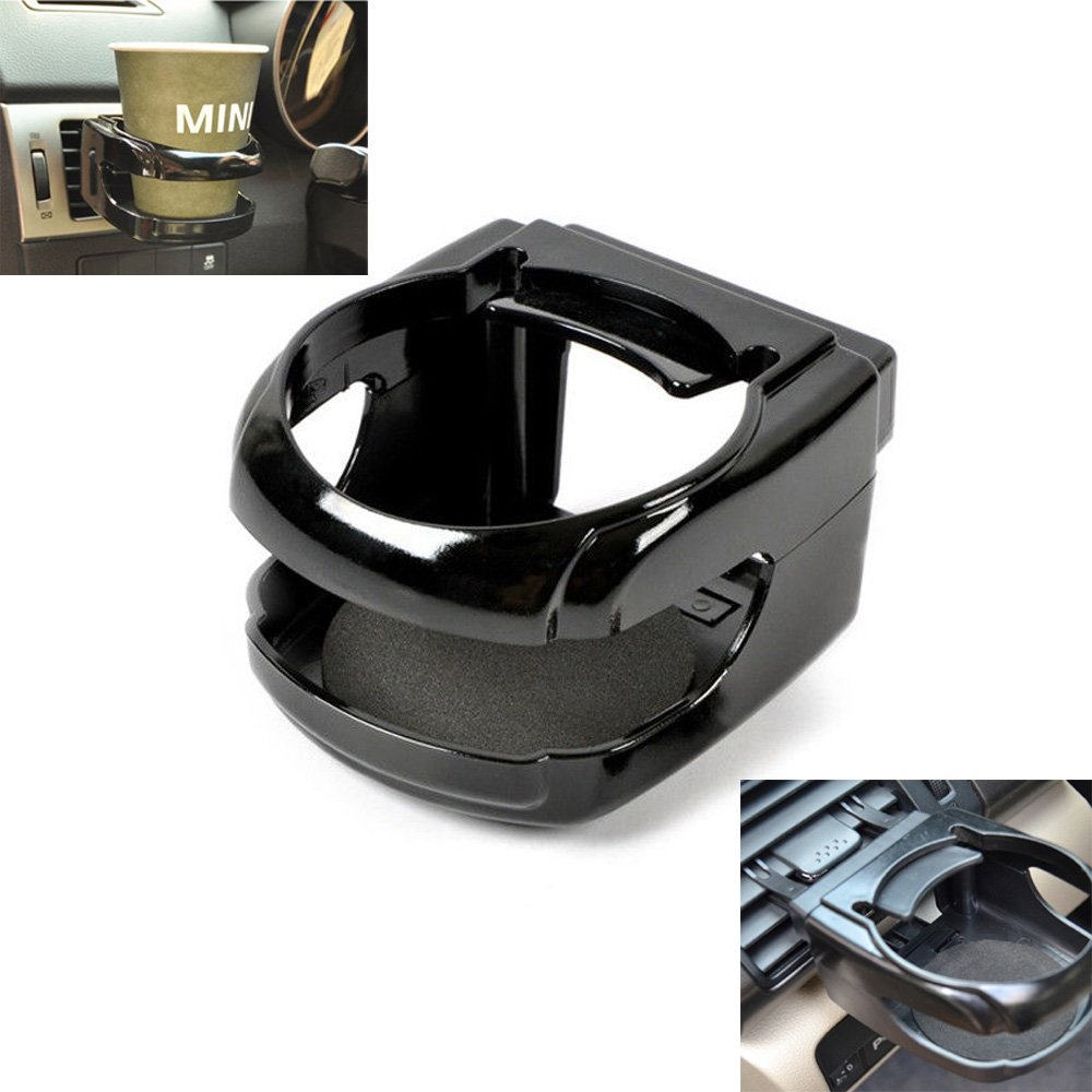 Universal Air Condirioner Vent Cup Holder, Drink Bottle Stand, Can Bracket for Car Truck - with 2 Set Mount Clips QUhang