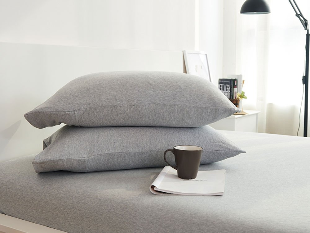(King, Thick Stripe Coffee) HOUSEHOLD 100% Cotton Jersey Knit Duvet Cover Light Weight,Comfortable,Extremely Durable Includes 2 Pillowcase (Thick Stripe Coffee, King) B07BF6DD3R キング|Thick Stripe Coffee Thick Stripe Coffee キング