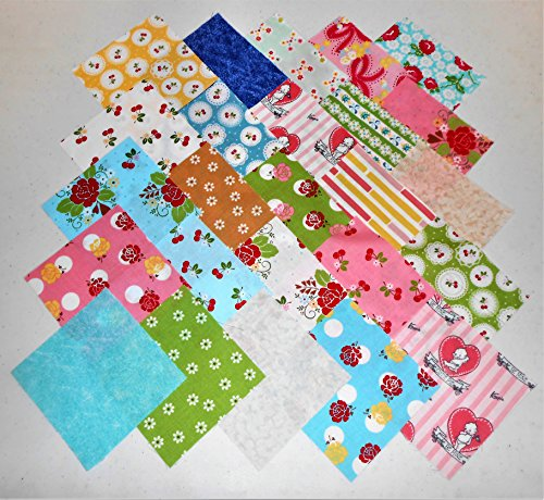 50 5'' Charm Pack Sew Cherry 2 by Riley Blake-25 different prints by Sew Cherry 2