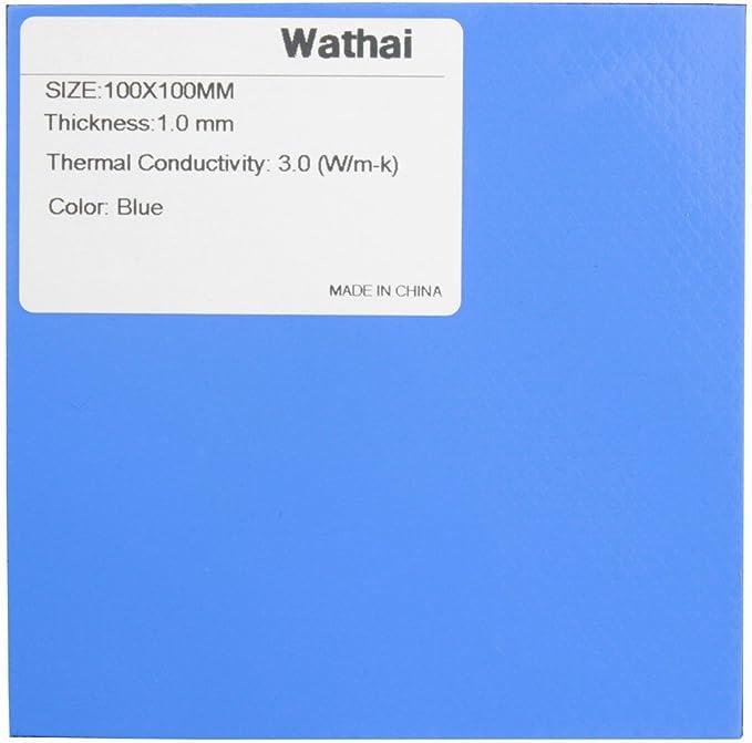 Wathai Blue 100x100x2mm 2mm Thermal pad GPU CPU PS3 PS2 Xbox Heatsink Cooling