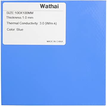 100x100x0.5mm Blue Heatsink Cooling Thermal Conductive Silicone Pad Excellent
