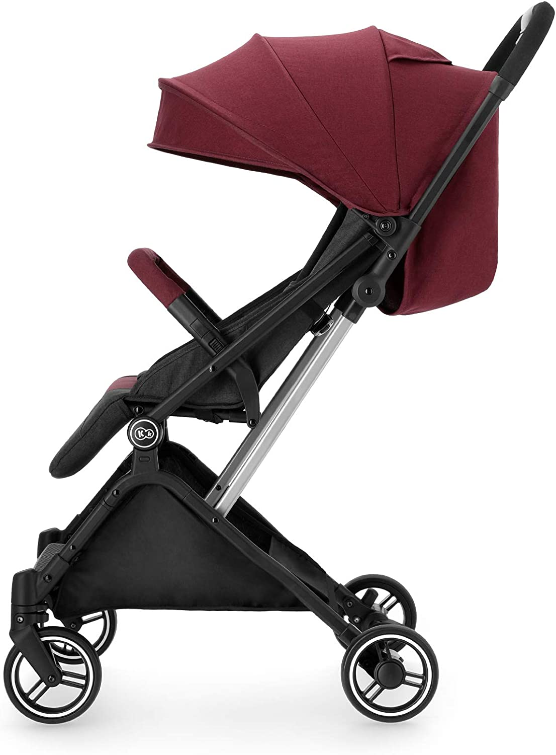 0-15 kg Travel Buggy Footmuff with Accessories Kinderkraft Lightweight Stroller INDY Ajustable Backrest Rain Cover from Birth to 3.5 Years Baby Pushchair Burgundy Easy Folding and Transport