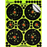 """25 Pack - 4"""" """"Stick & Splatter"""" - Adhesive SPLATTERBURST Shooting Targets - Instantly See Your Shots Burst Bright Florescent Yellow Upon Impact - Great for all firearms, rifles, pistols, AirSoft, BB and Pellet guns!"""