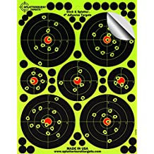 "25 Pack - 4"" ""Stick & Splatter"" - Adhesive SPLATTERBURST Shooting Targets - Instantly See Your Shots Burst Bright Florescent Yellow Upon Impact - Great for all firearms, rifles, pistols, AirSoft, BB and Pellet guns!"