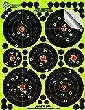 "25 Pack - 4"" ""Stick & Splatter"" - Adhesive Splatterburst Target - Instantly See Your Shots Burst Bright Florescent Yellow Upon Impact!"