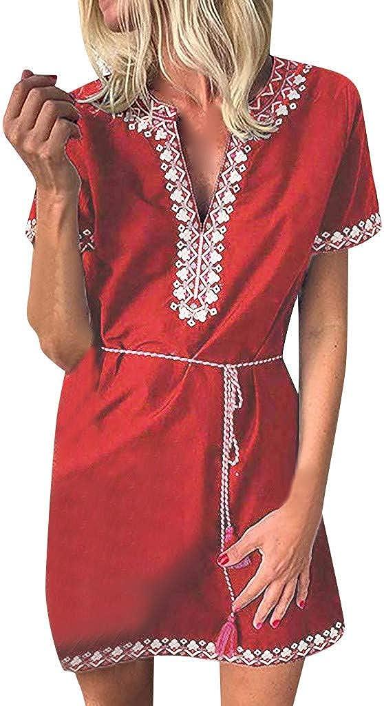 UNSHOU Women Casual Print...
