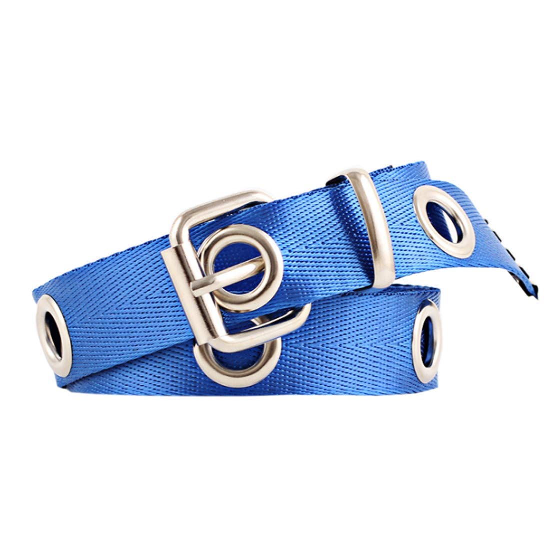 ACVIP Women's Solid Narrow Decorative Pin Buckle Belt (blue)