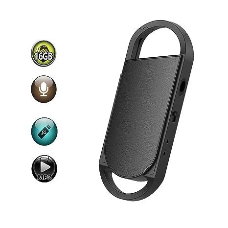 Amazon.com: bestrec grabadora de voz, 8 GB LLAVERO grabadora ...