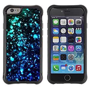 "All-Round Hybrid Rubber Case Hard Cover Protective Accessory Compatible with Apple iPhone 6PLUS ¡ê¡§5.5"") - lights blue black dark bright teal"